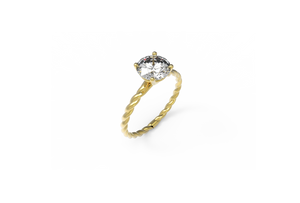 Rope Diamond Engagement Ring | Dearest