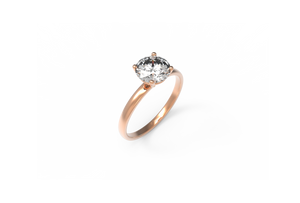 Solitaire Diamond Engagement Ring | Dearest