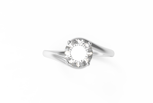 Svelte Diamond Engagement Ring | Dearest