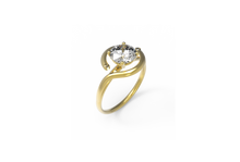 Load image into Gallery viewer, Trip Diamond Engagement Ring | Dearest