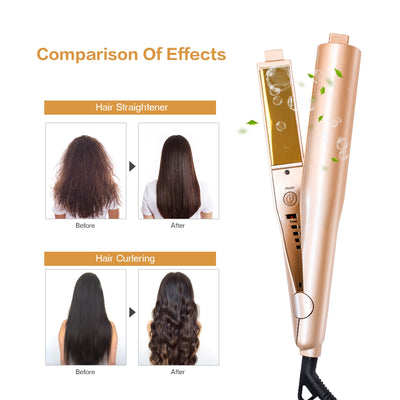 Hair Straightener - Best Curling Straightener Flat Iron - Curl Hair With Flat Iron