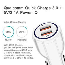 Load image into Gallery viewer, Turbo Power 3 | 3-in-1 Car Charger USB / Type C Smart Quick Charger