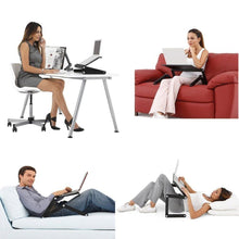 Load image into Gallery viewer, Adjustable Ergonomic Portable Aluminum Laptop Desk. (Mouse Pad Included)