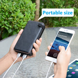 Solar Charger 25000mAh Portable Charger Waterproof Power Bank with 2.1A Output 4 Solar Panels Battery Pack -ADDTOP HI-S025