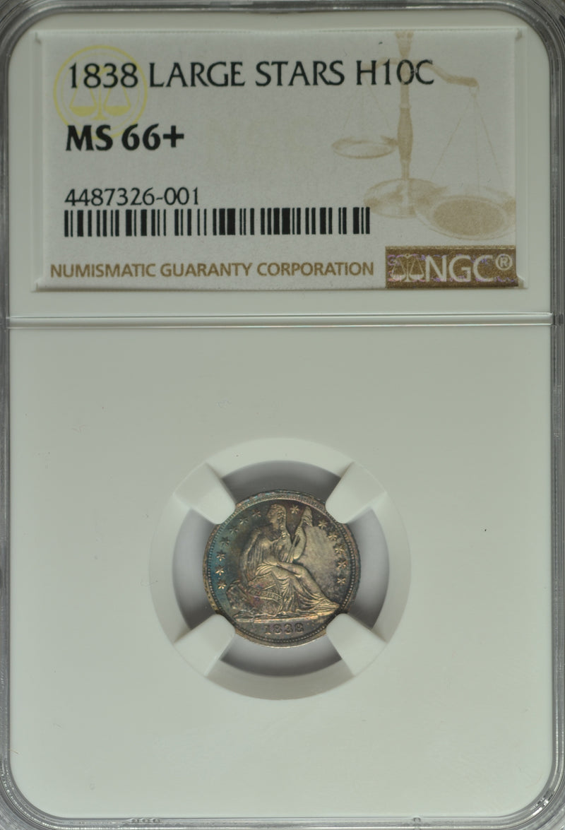 1838 Seated Half Dime NGC MS66+