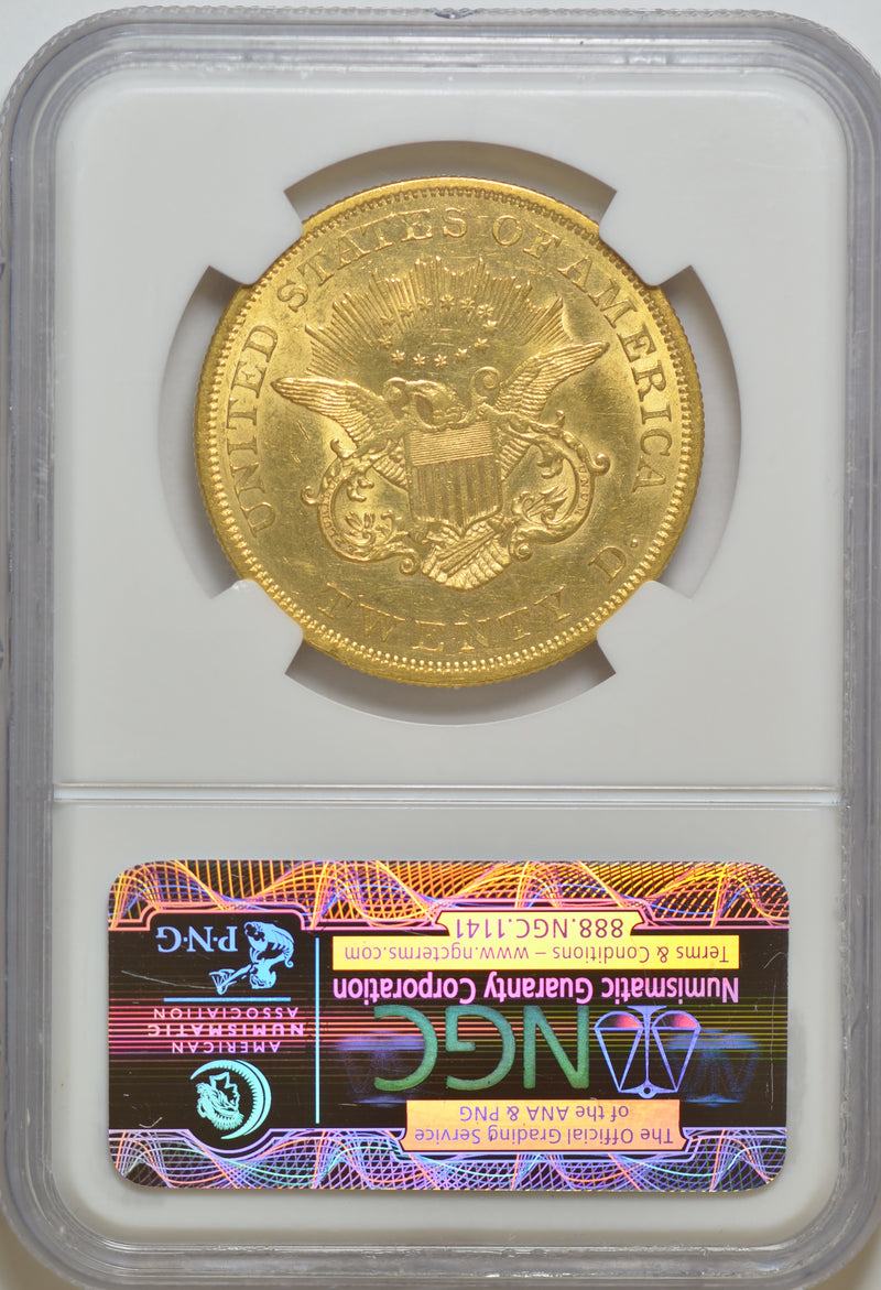 1850 $20 Double Eagle 1st Year Issued NGC MS62