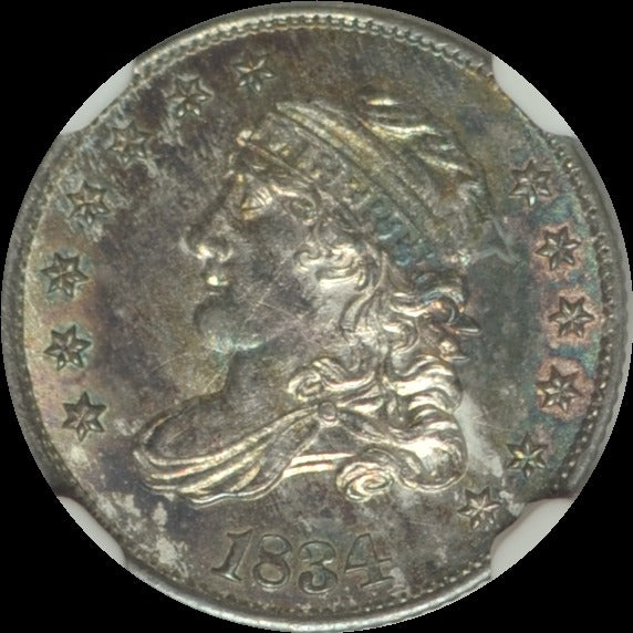 1834 Capped Bust Half Dime  MS65+