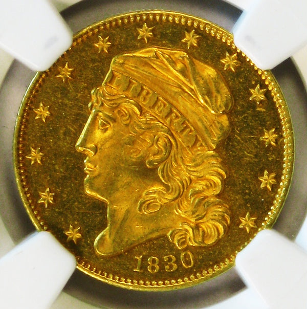 1830 EARLY $5 GOLD NGC PF64 CAMEO