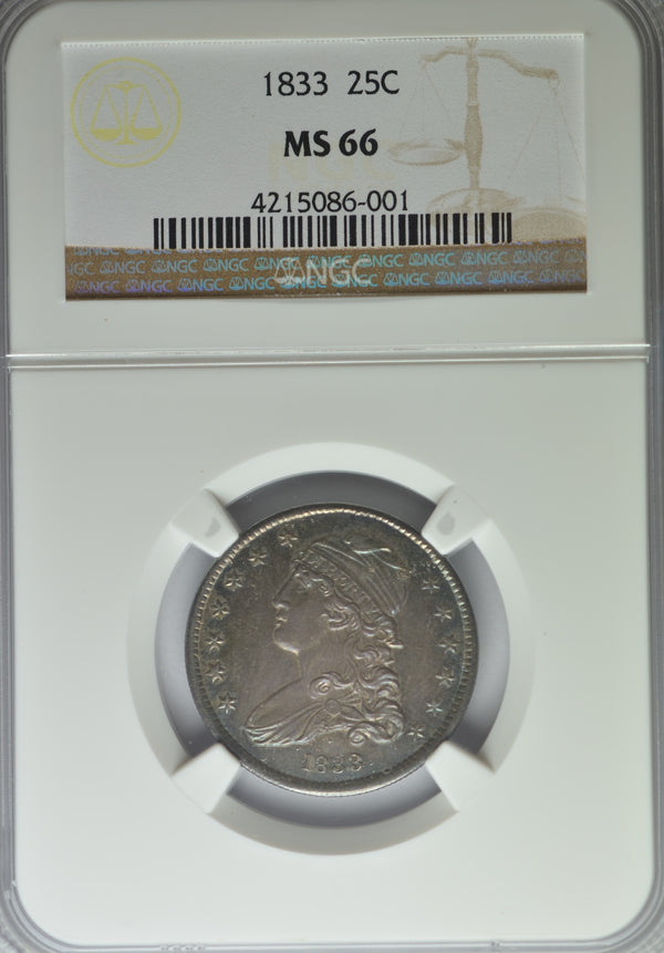 1833 Capped Bust Quarter NGC MS66 NONE FINER