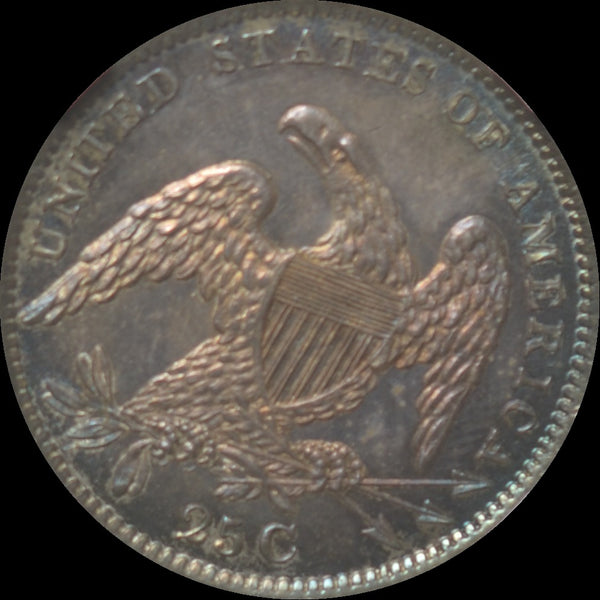 1833 Capped Bust Quarter NONE FINER MS66