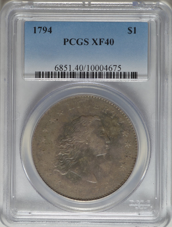 1794 Flowing Hair Silver Dollar PCGS XF40