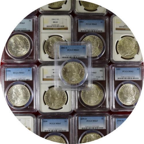 Morgan Dollar MS63 20+1 Set Collection Includes Free Carson City Morgan Dollar Book