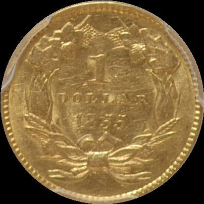 1855 $1 Dollar Gold S.S. Central America PCGS AU58