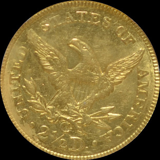 1844-C $2.50 Gold Quarter Eagle S.S. Central America PCGS AU58