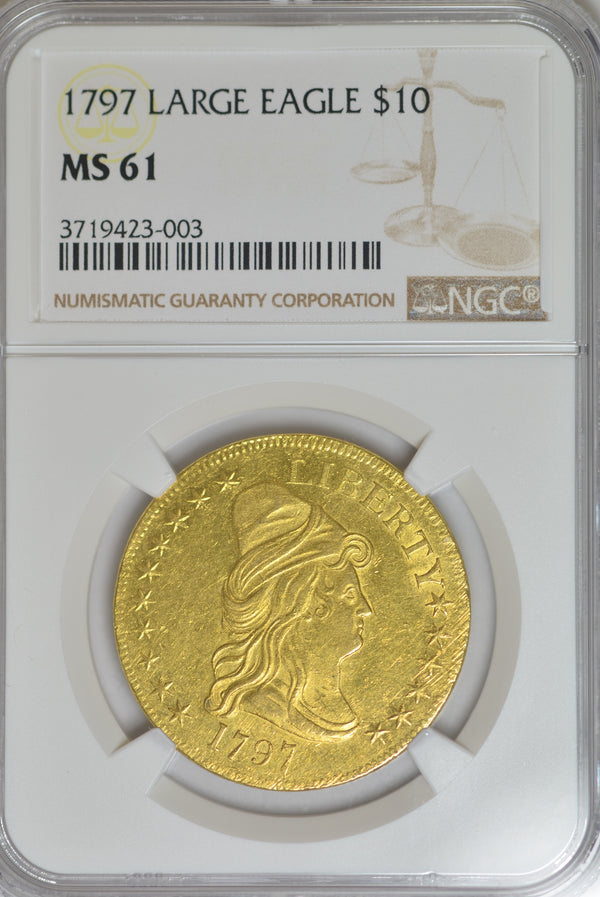 1797 Large Eagle $10 Eagle MS61