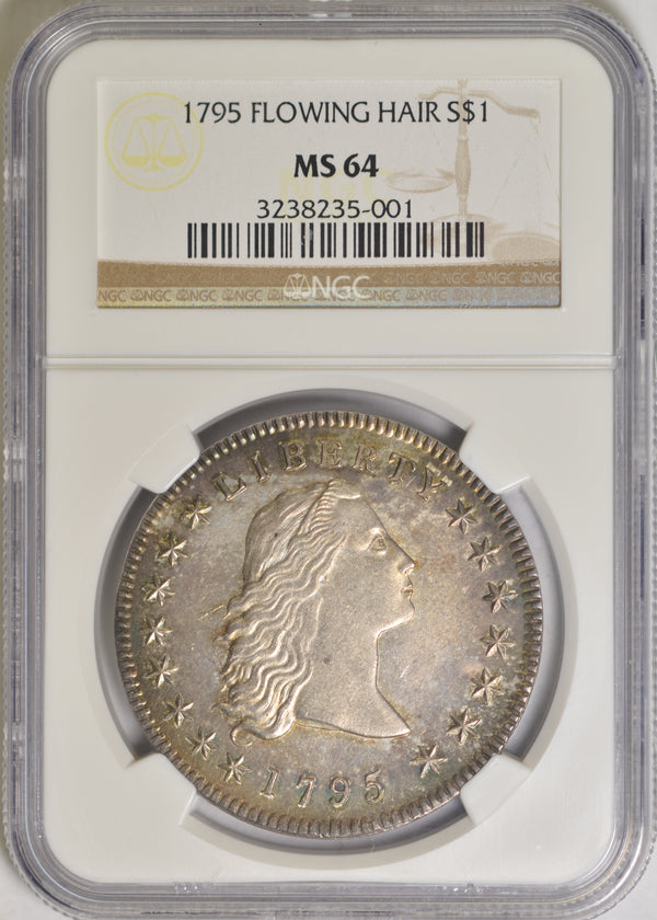 1795 Flowing Hair Dollar NGC MS64