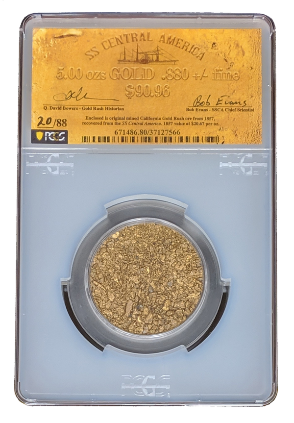 5 Ounces of Gold Certified by PCGS from the California Gold Rush