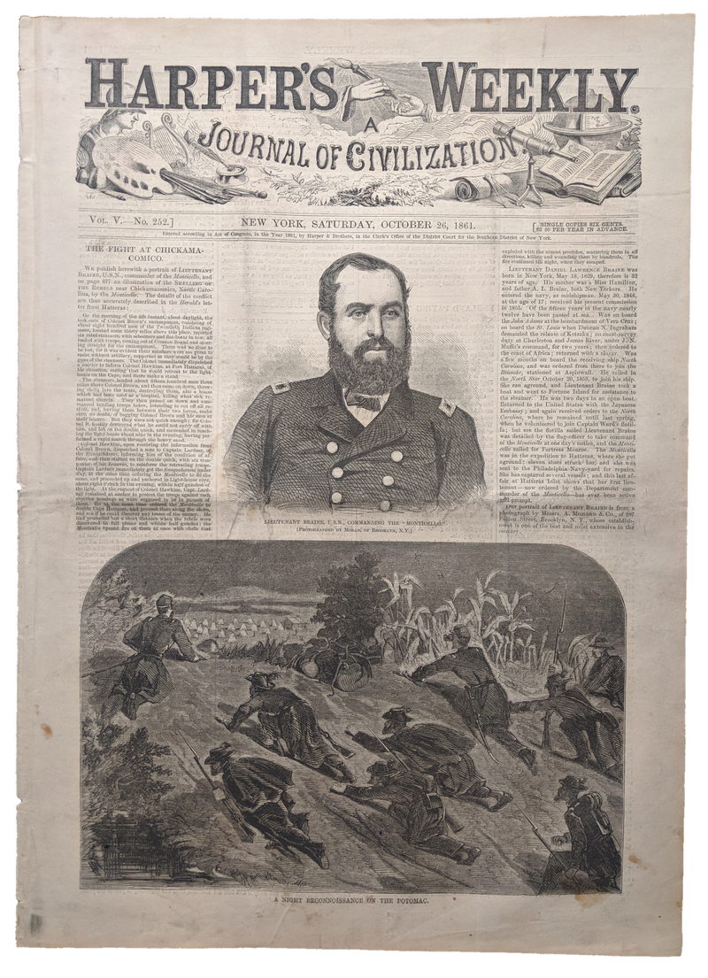 1861 Harper's Weekly    dated Oct 26