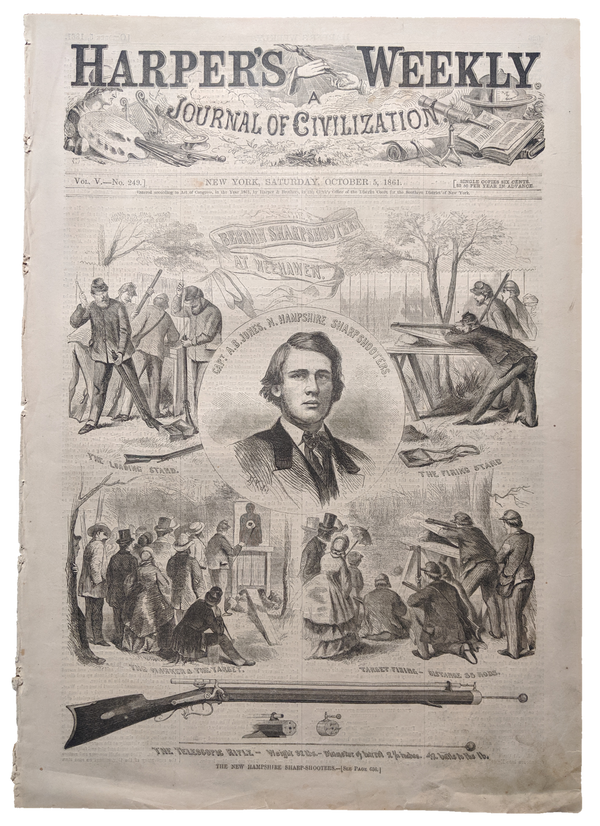 1861 Harper's Weekly    dated Oct 5