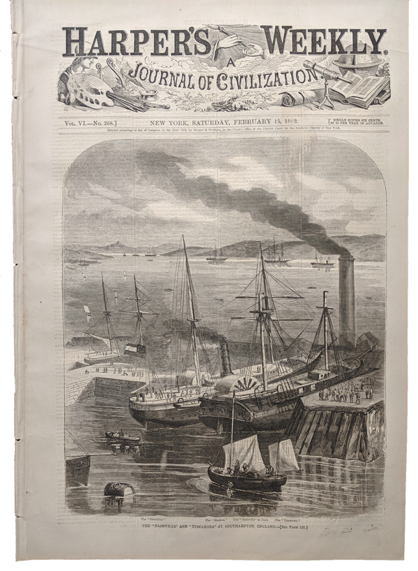 1862 Harper's Weekly    dated Feb 15