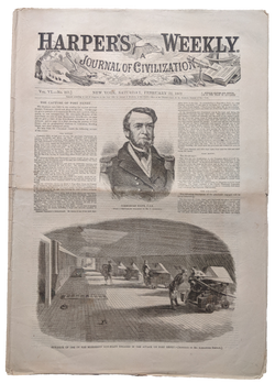 1862 Harper's Weekly   dated Feb 22