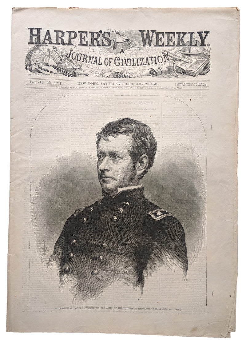 Harper's Weekly CIVIL WAR Set: 1 from Each Year 1861-1865 (5)