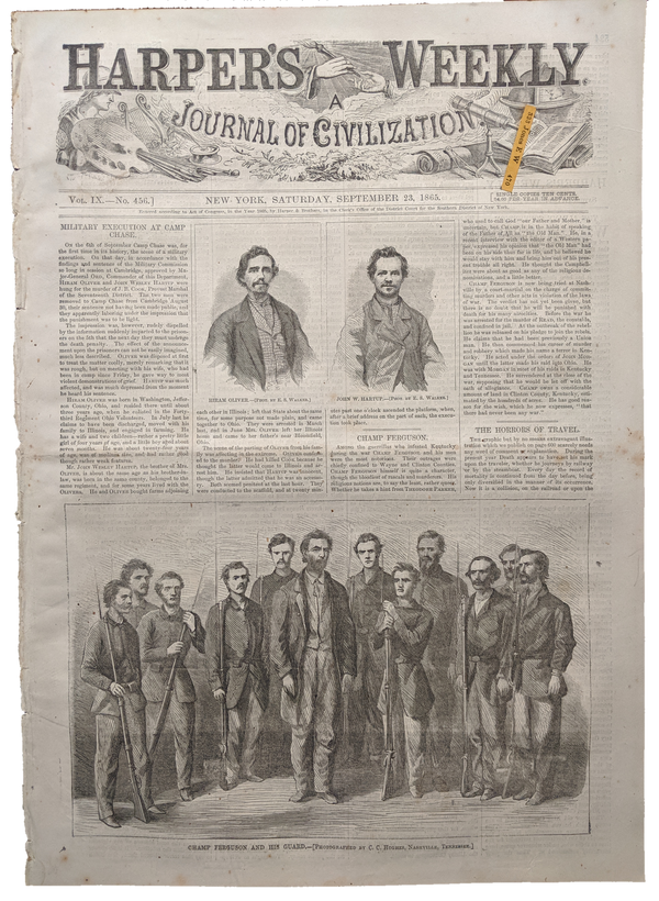 1865 Harper's Weekly   dated Sept 23