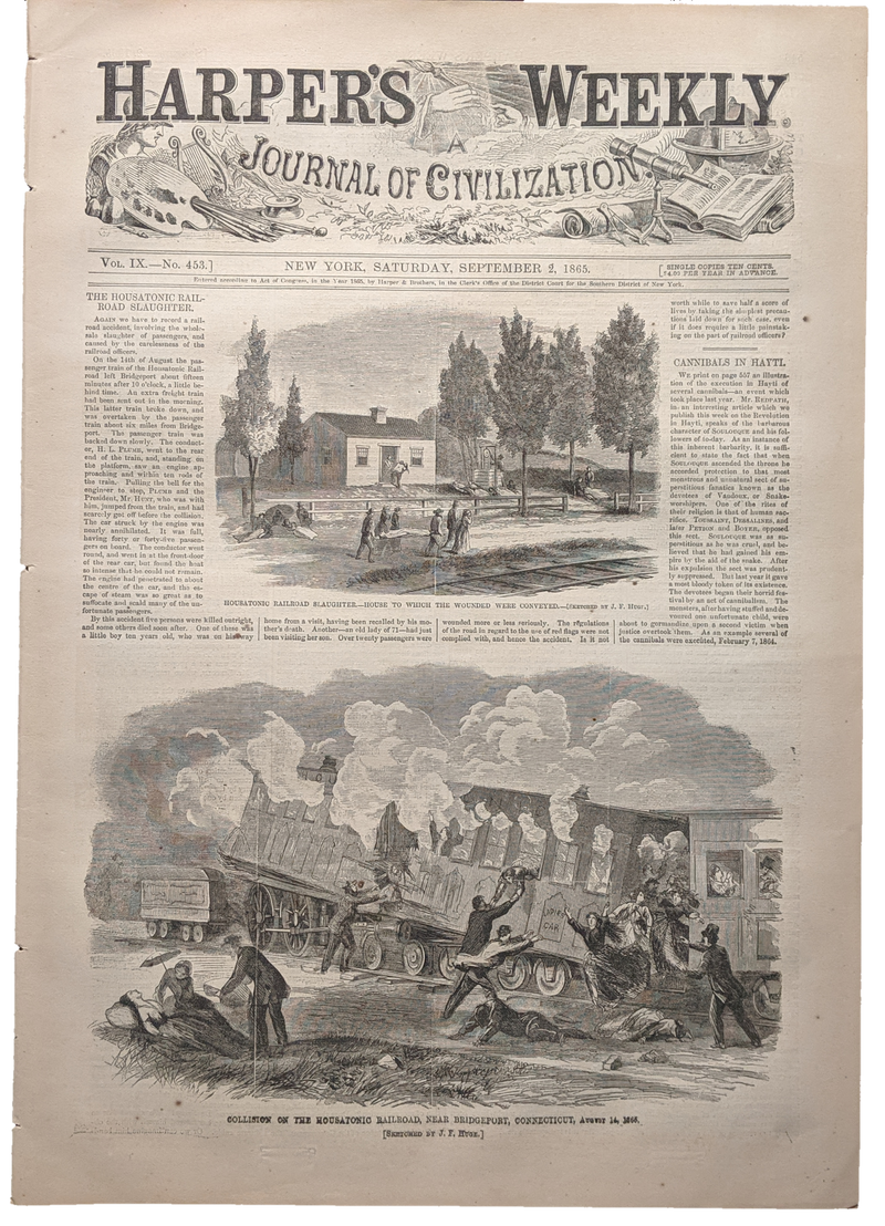 1865 Harper's Weekly   dated Sept 2