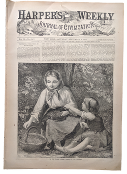 1865 Harper's Weekly   dated Sept 9
