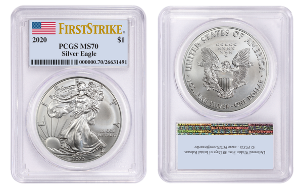 2020 Silver American Eagle PCGS MS70 FIRST STRIKE