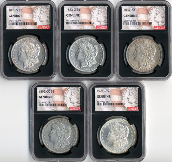 The Morgan 5-Coin Mint Set