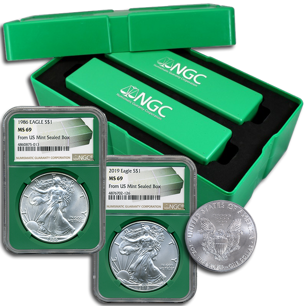 40 -Coin Set American Silver Eagles NGC MS69