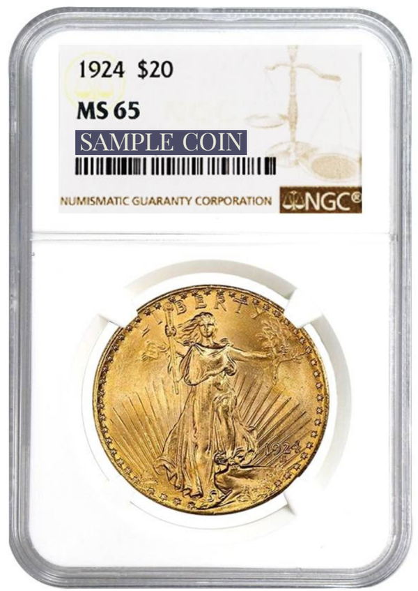 $20 St Gaudens Double Eagle GEM Mint State 65 PCGS or NGC