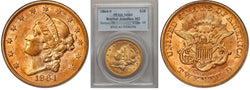 1864-S $20 Double Eagle Brother Jon. PCGS MS61