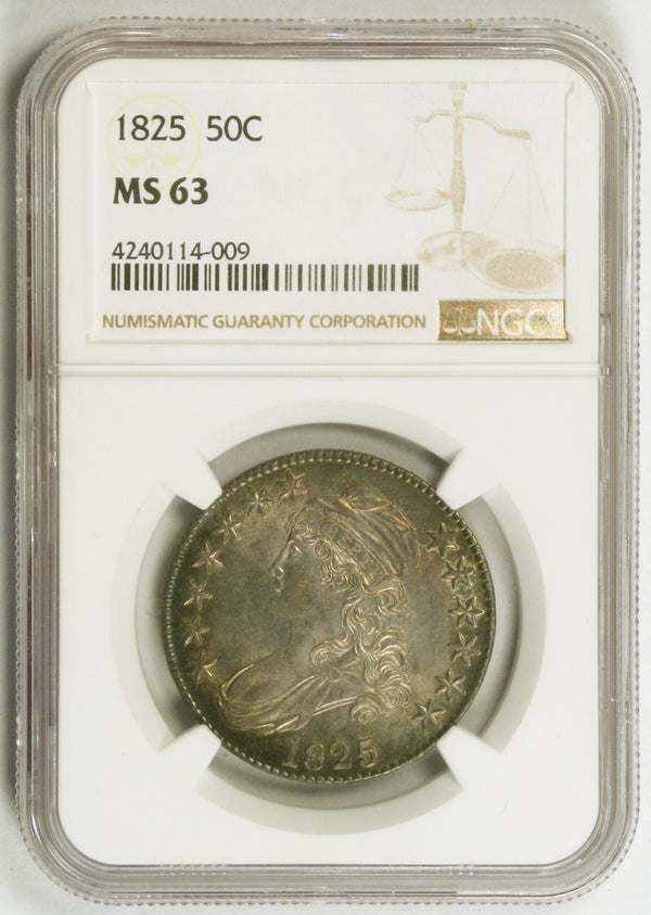 1825 Capped Bust Half Dollar NGC MS63