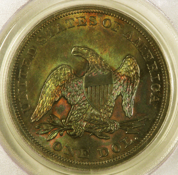 1854 Liberty Seated Dollar PCGS MS64