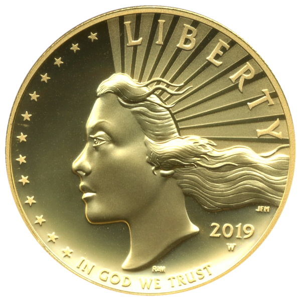 2019-W $100 1oz Gold Liberty High Relief
