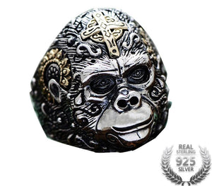 King Kong Gold Cross Ring