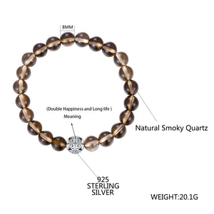 Smoky Crystal Bracelet