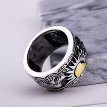Load image into Gallery viewer, Eagle Wings Sun Totem Ring