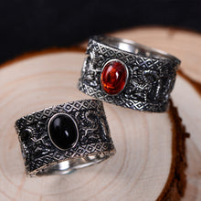 Load image into Gallery viewer, Garnet Dragon Ring