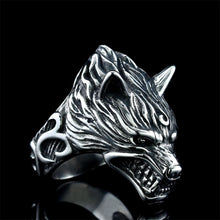 Load image into Gallery viewer, Hyperbole Ferocious Wolf Head Ring