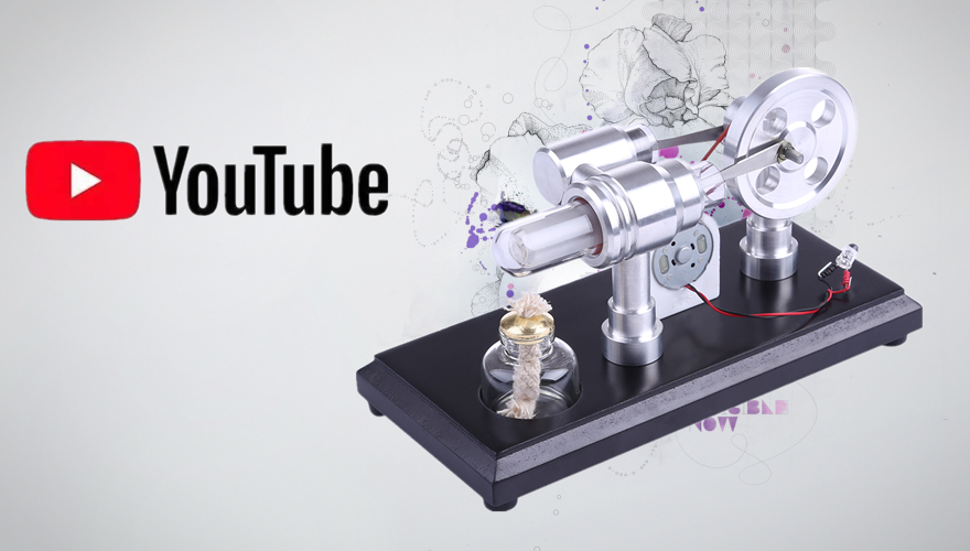 Youtube Review Video About the $29.99 Stirling Engine Kit Model