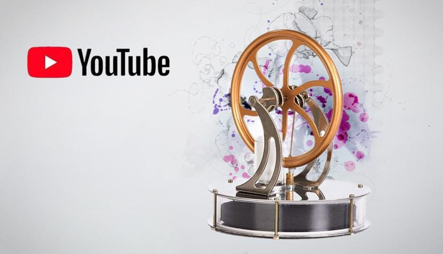 Youtube Review Video About the $29.99 Low Temperature Stirling Engine Model