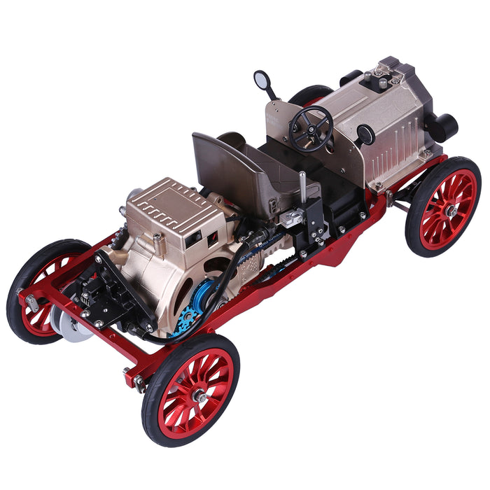 Teching Assembly Vintage Classic Car Metal Mechanical Model Toy with Electric Engine 310+pcs - stirlingkit