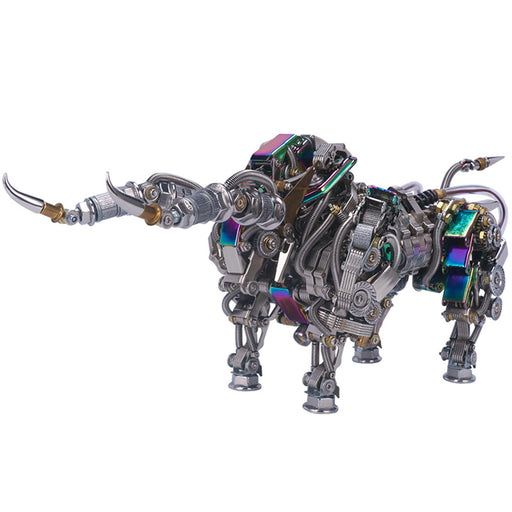 1087Pcs Metal Puzzle Model Kit 3D DIY Mechanical Bull Assembly Jigsaw Crafts - stirlingkit