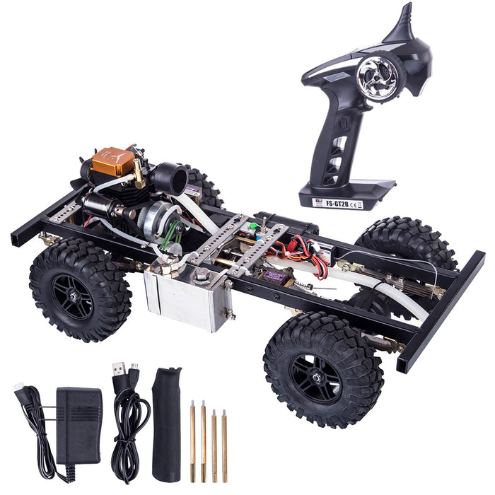 1:10 Fuel Model Car Set (Frame + TOYAN FS-S100A Methanol Engine + Toyan Engine Parts + Remote Controller) - stirlingkit