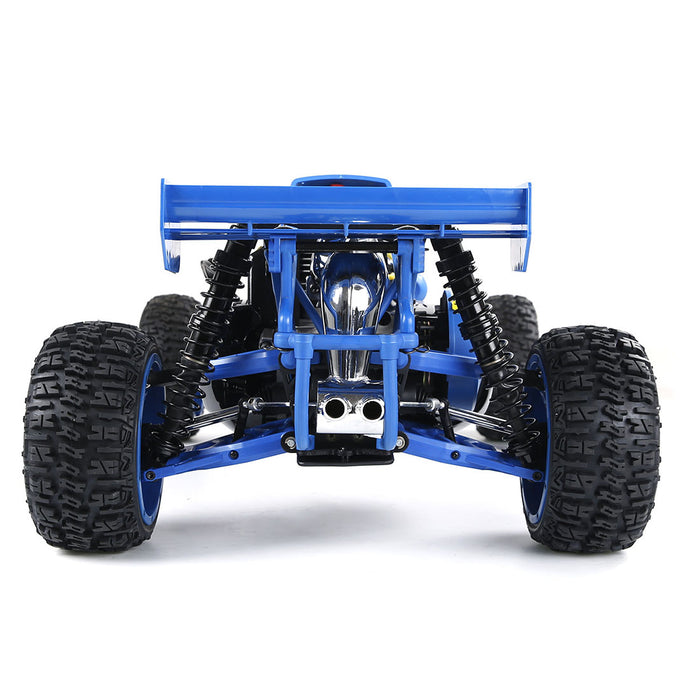1:5 BAHA320 High Strength Nylon Gasoline Remote Control Car Off-road Vehicle with Body 32cc Gasoline Engine 2.4G Remote Control - RTR Version Blue - stirlingkit