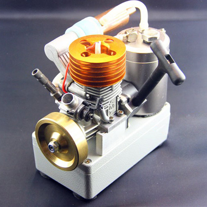 18 Grade Methanol Engine Brass Flywheel Straight Exhaust Pipe Engine with Voltage Display Switch - stirlingkit