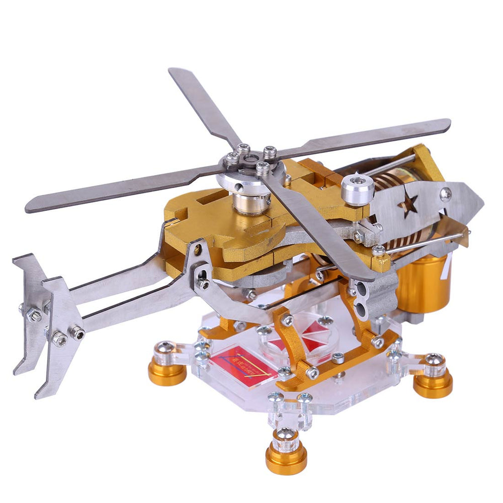 Stirling Engine Kit Vacuum Generator Model Helicopter Design Stirling Engine Motor Kit Science Metal Toy - stirlingkit